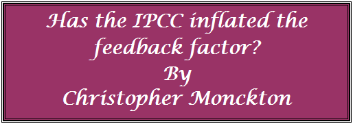 Has IPCC Infalted The Feedback Factor?