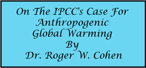 On The IPCC's Case For Anthropogenic Global Warming