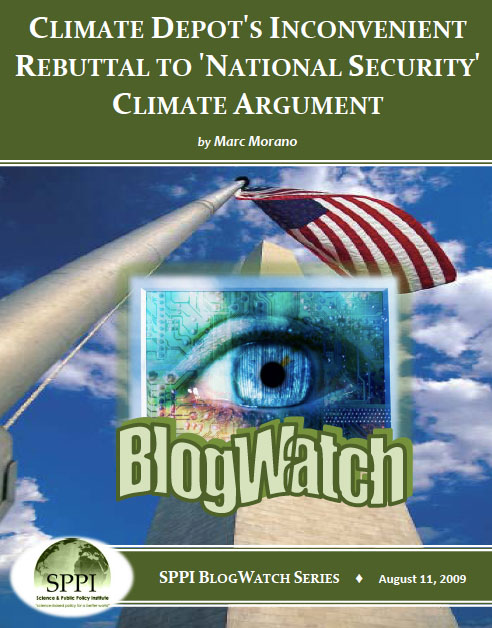 Climate Depot's Inconvenient Rebuttal to 'National Security' Climate Argument