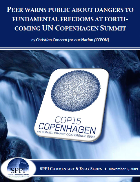 CCON-Peer Warns Public on Dangers to Freedom at COP15